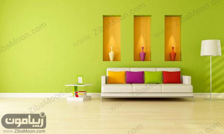 رنگ سبز اتاق