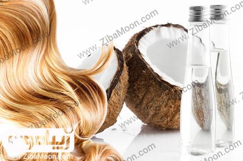 موهای درخشان با روغن نارگیل