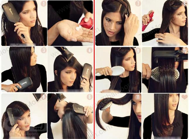 آموزش تصویری اتو کردن مو