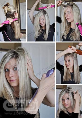 اتو کردن موهای تا سرشانه