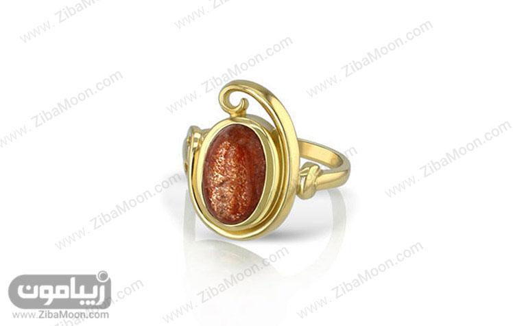حلقه ازدواج با سنگ خورشیدی
