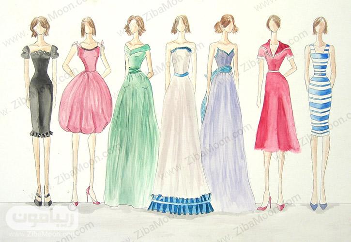 مدل لباس های نقاشی شده