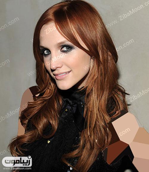 هایلایت مو با رنگ دارچینی