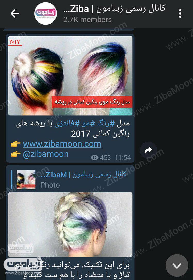 کانال تلگرام زیبامون