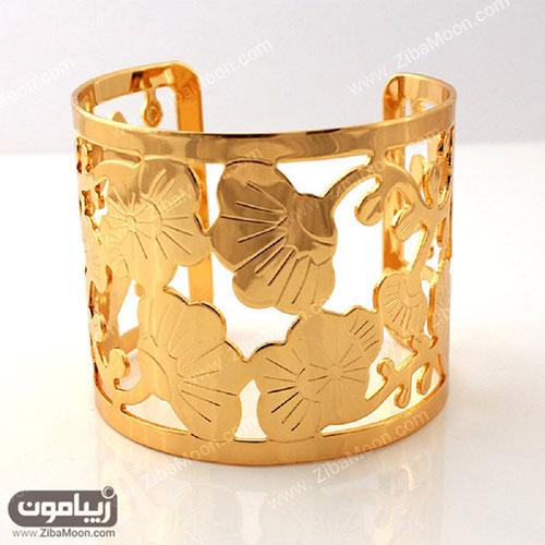 دستبند طلا پهن