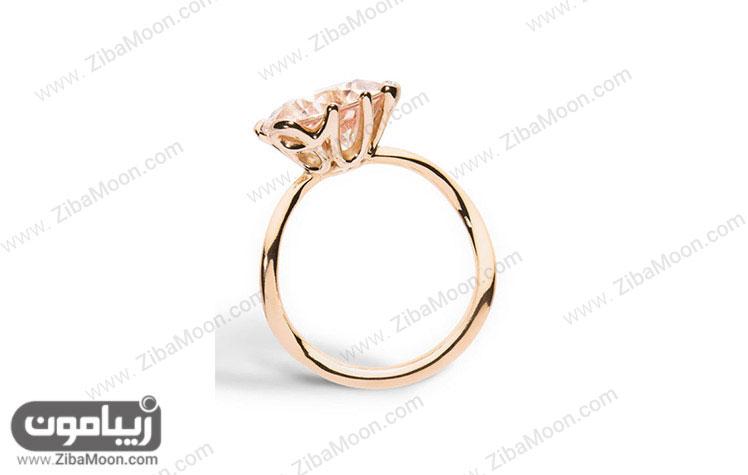 حلقه ازدواج با سنگ MORGANITE