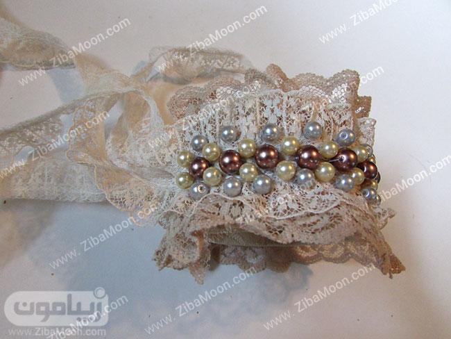 دستبند گیپوری و مرواریدی زیبا