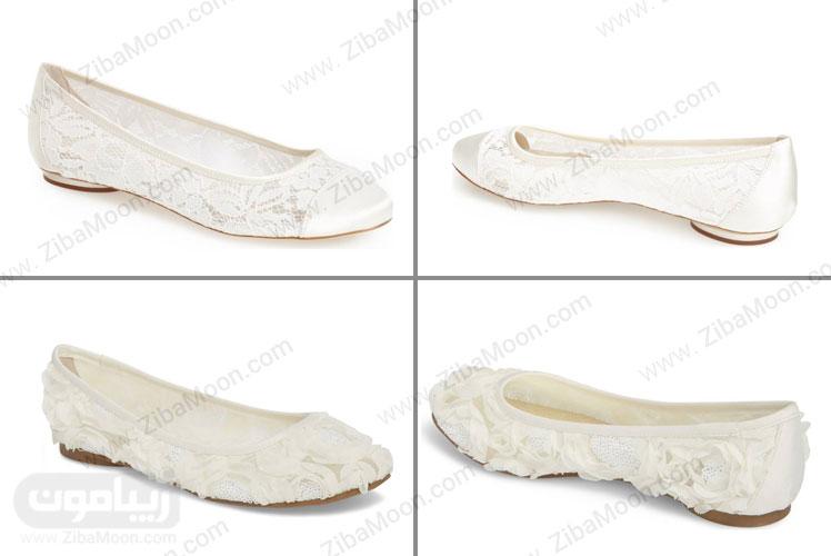 مدل های کفش تخت عروس