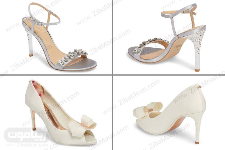 کفش سنگدوزی شده عروس