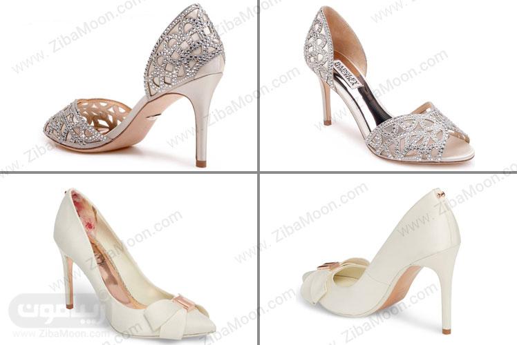 کفش عروس کار شده