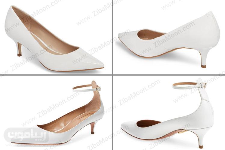 کفش پاشنه کوتاه لاکچری عروس