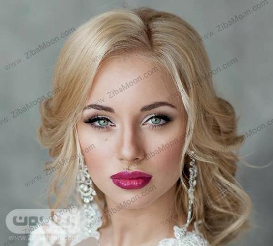 عروس با موهای بلوند روشن