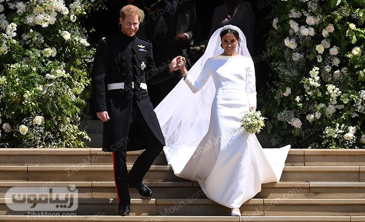 لباس عروس مگان مارکل و لباس دامادی پرنس هری