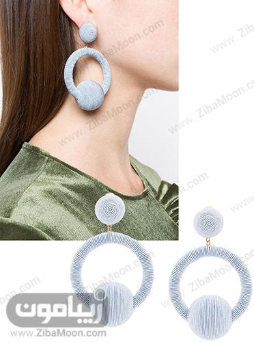 گوشواره دخترانه فانتزی آبی رنگ
