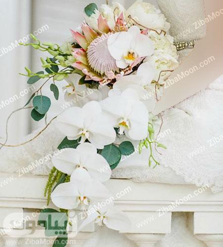 دسته گل زیبا و جدید با گل ارکیده