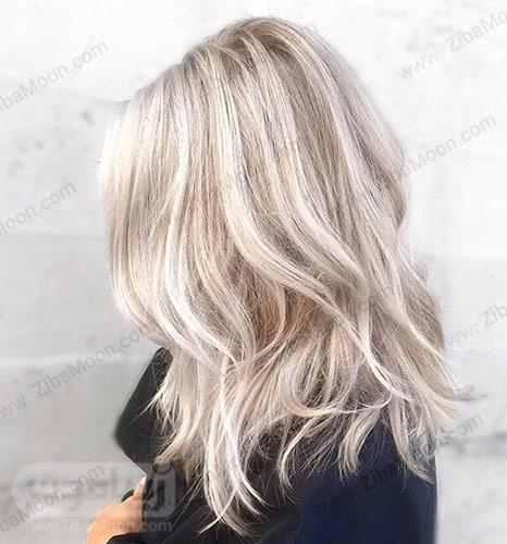 رنگ موی هایلایت بلوند
