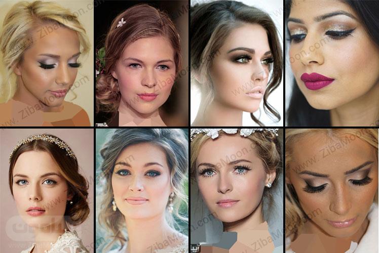 مدل آرایش عروس لایت و شیک
