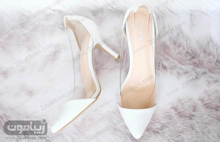 کفش سفید عروس