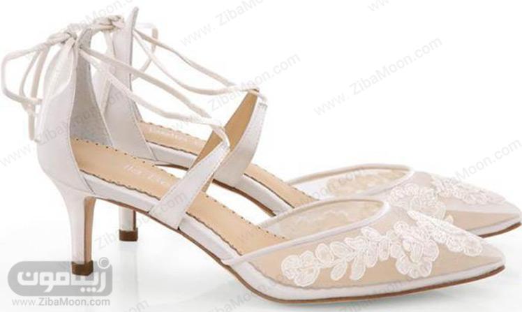 کفش عروس توری زیبا