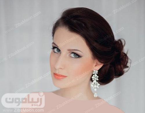 آرایش عروس با رژلب نارنجی