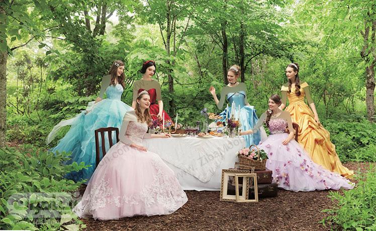 لباس عروسی پرنسس های دیزنی