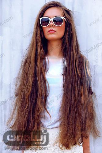 موهای بسیار بلند