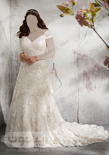 لباس عروس تور سنگ دوزی شده