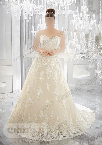 لباس عروس کاملا کار شده