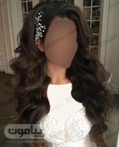 مدل مو باز قهوه ای عروس