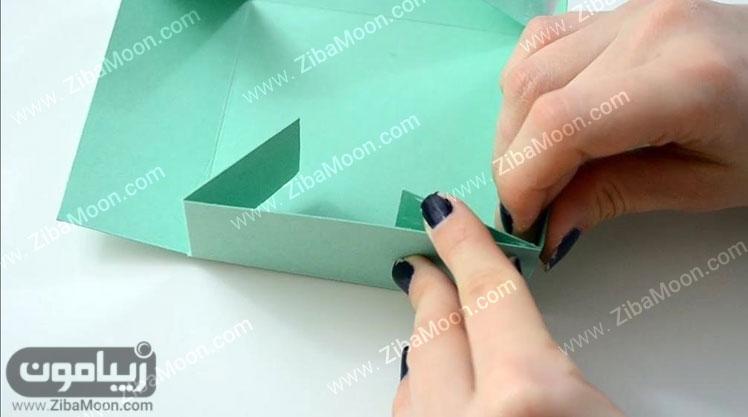 وصل کردن گوشه های جعبه مقوایی