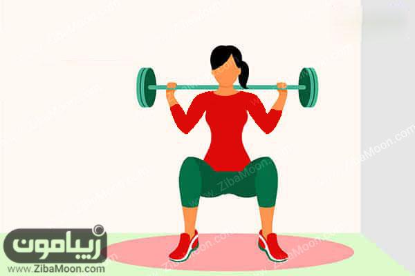 تمرین با وزنه ورزشی