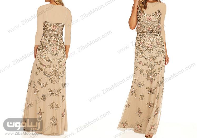 لباس مجلسی سوزن دوزی گلدار