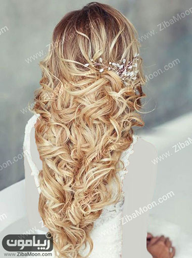 موهای بلوند با شینیون باز و جذاب