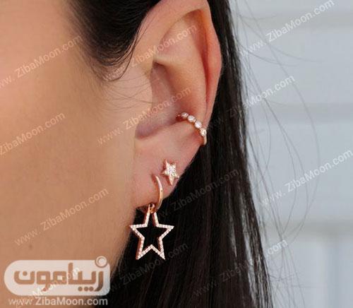 گوشواره ستاره ای روی گوش