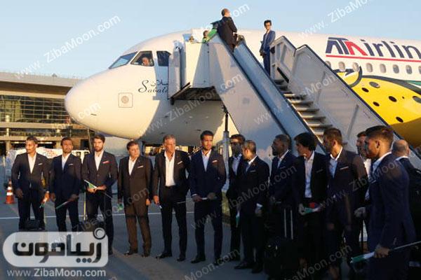 تیم ملی ایران با لباس رسمی در روسیه