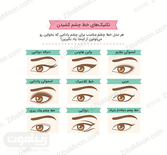 خط چشم برای چشم های بادامی