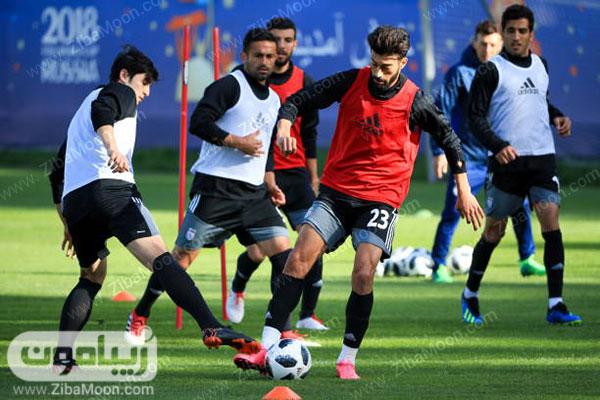 عکس تمرین بازیکنان تیم ایران برای جام جهانی 2018