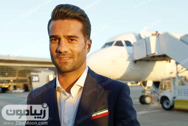 مسعود شجاعی با کت و شلوار رسمی