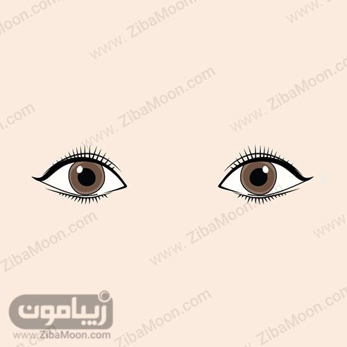 چشم های دور از هم