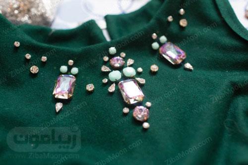 لباس تزیین شده با سنگ