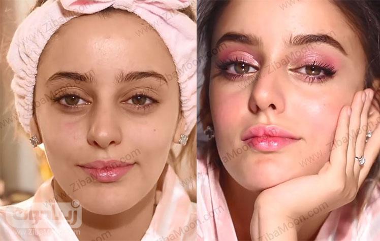 قبل و بعد از آرایش