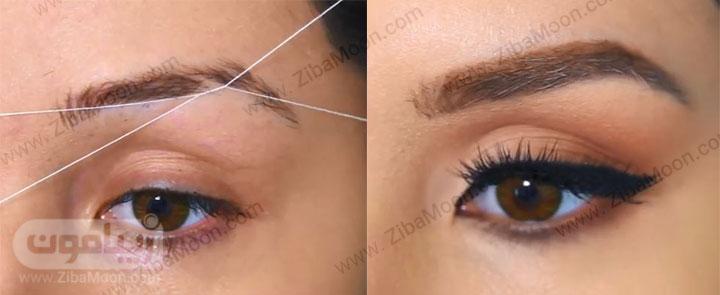 قبل و بعد از سایه چشم زدن