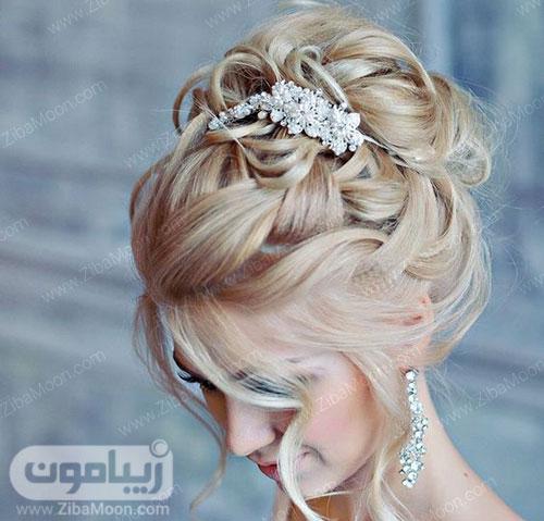 شینیون مو عروس با موهای بلوند
