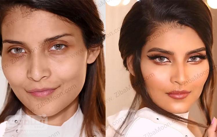 قبل و بعد از آرایش لایت