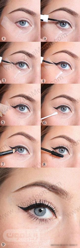 مدل خط چشم دخترانه ساده