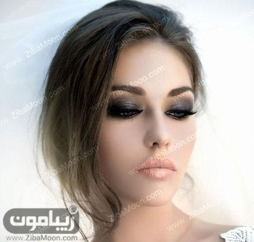 مدل عروس اروپایی با سایه چشم اسموکی