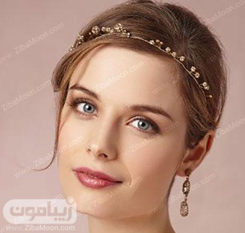 مدل عروس اروپایی زیبا با ریسه مو ظریف