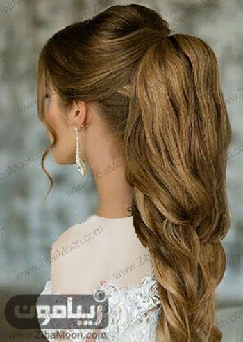 مدل مو دم اسبی شیک برای عروسی یا نامزدی