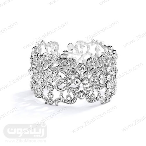 بازوبند طلای سفید و الماس