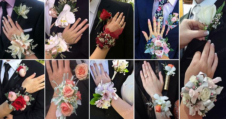 مدل های ست مچ بند گل عروس با گل جیبی داماد
